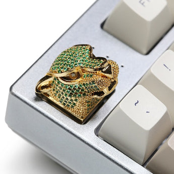 [CLOSED][GB] Gem Leopard metal-coated keycap mutil-colour Handmade