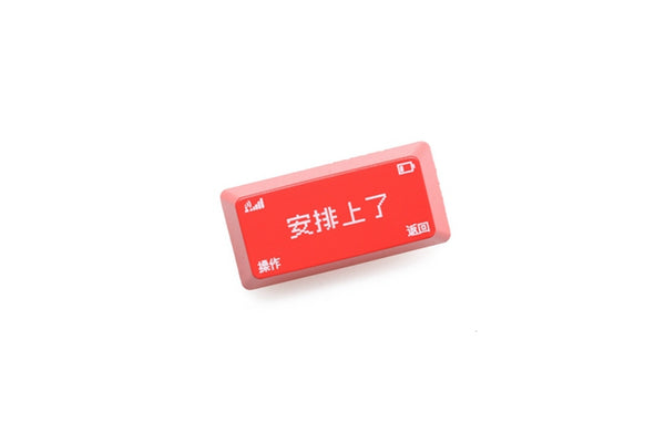 Novelty shine-through Backspace Enter ABS OEM profile an pai shang le 安排上了