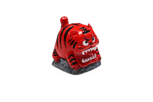 [CLOSED][GB] Cute Tiger novelty by BEE resin hand-painted keycap big cat
