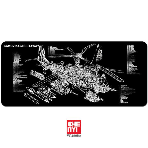 [CLOSED][Pre-Order] Chenyi Mouse pad Kamov Ka-50theme non-stitched edge large