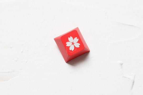 [LIMITED]Red 139 Japanese root Japan black font Cherry profile Dye Sub Keycap PBT