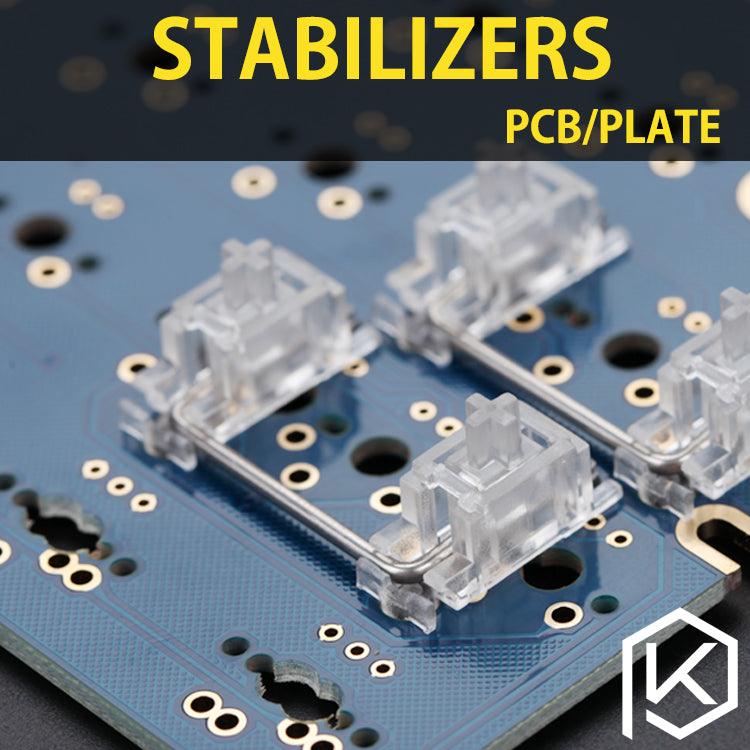 transparent black pcb plate stabilizers for custom mechanical