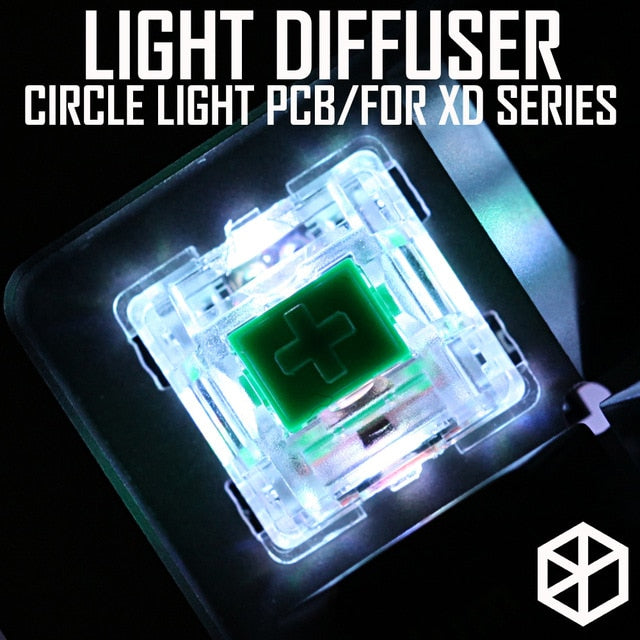 XD Halo RGB light control pcb soft lighting light diffuser circle light for  mechanical keyboard