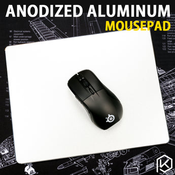 Aluminum alloy mousepad Gaming Mat Mouse with free gift tablet support with Non-Slip Rubber Bottom Mouse Pad anti slip Mousepad