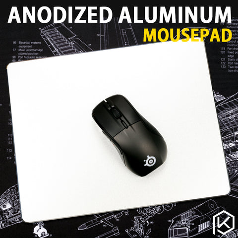 Aluminum alloy mousepad Gaming Mat Mouse with free gift tablet support with Non-Slip Rubber Bottom Mouse Pad anti slip Mousepad - KPrepublic