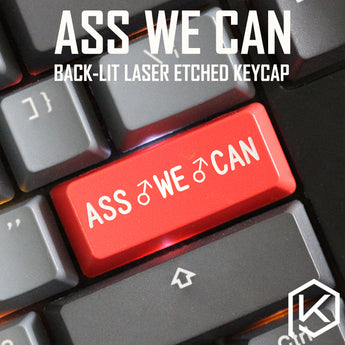 Novelty Shine Through Keycaps ABS Etched, Shine-Through ass we can Billy Herrington king red for keyboard enter 2.25u