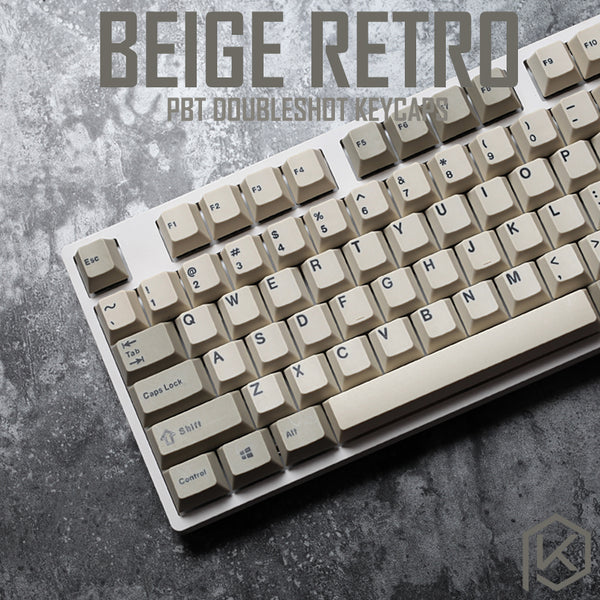 pbt doubleshot keycaps cherry profile retro beige grey for ansi 104 mechanical keyboard for cherry 3494 3000 87 tkl ansi poker