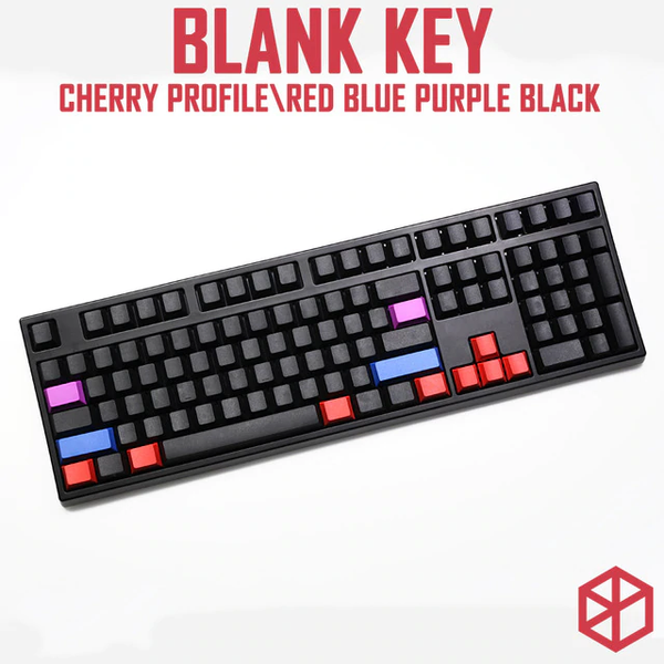 cherry profile blank dip dyed keycaps red blue purple black colorway shift tab backspace enter ctrl win alt 1.5u 2u 1.75u 2.25u