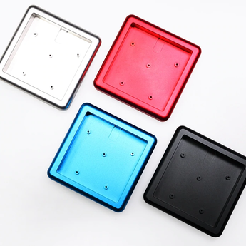 Anodized Aluminium cubic case for bm16a keyboard acrylic panels stalinite diffuser can support Rotary brace supporter