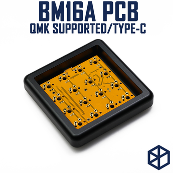 bm16a 16 keys Custom Mechanical Keyboard PCB plate programmed numpad layouts qmk firmware with rgb bottom underglow alps mx