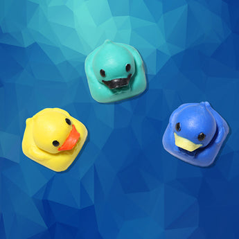 [CLOSED] [GB] B.o.B Resin Duckie keycap handcrafted R4 multi-colour novelty