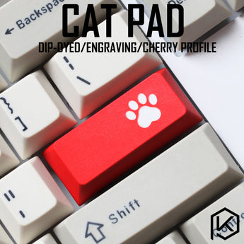 Novelty cherry profile dip dye sculpture pbt keycap for mechanical keyboard laser etched legend cat pad enter black red blue