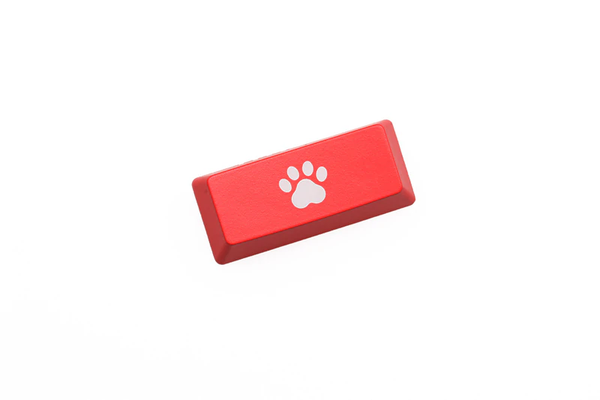 Novelty Shine Through Keycaps ABS Etched, Shine-Through cat pad black red custom mechanical keyboard enter backspace r4 r1