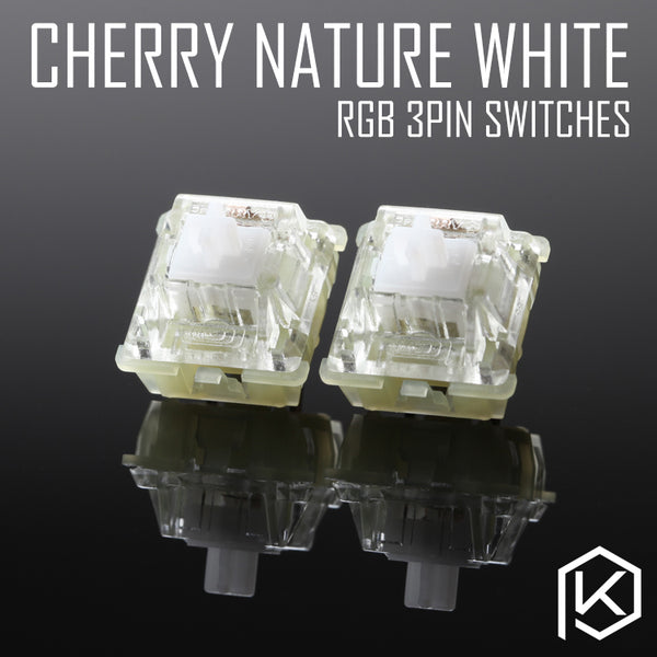 cherry rgb smd silent nature white 3pin switch for custom mechnical keyboard xd64 xd60 eepw84 gh60 tada68 rs96 87 104 108 - KPrepublic