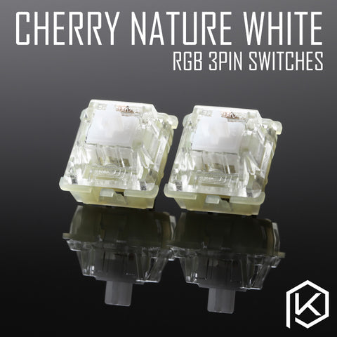 cherry rgb smd silent nature white 3pin switch for custom mechnical keyboard xd64 xd60 eepw84 gh60 tada68 rs96 87 104 108