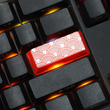 Novelty Shine Through Keycaps ABS Etched, Shine-Through red custom mechanical keyboard enter auspicious clouds pattern xiangyun