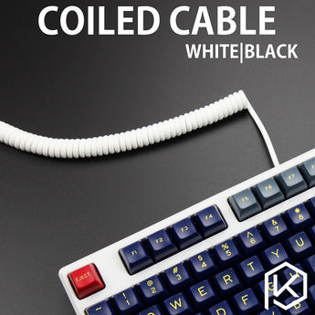 coiled Cable wire Mechanical Keyboard GH60 USB cable mini USB port for poker 2 GH60 keyboard kit DIY