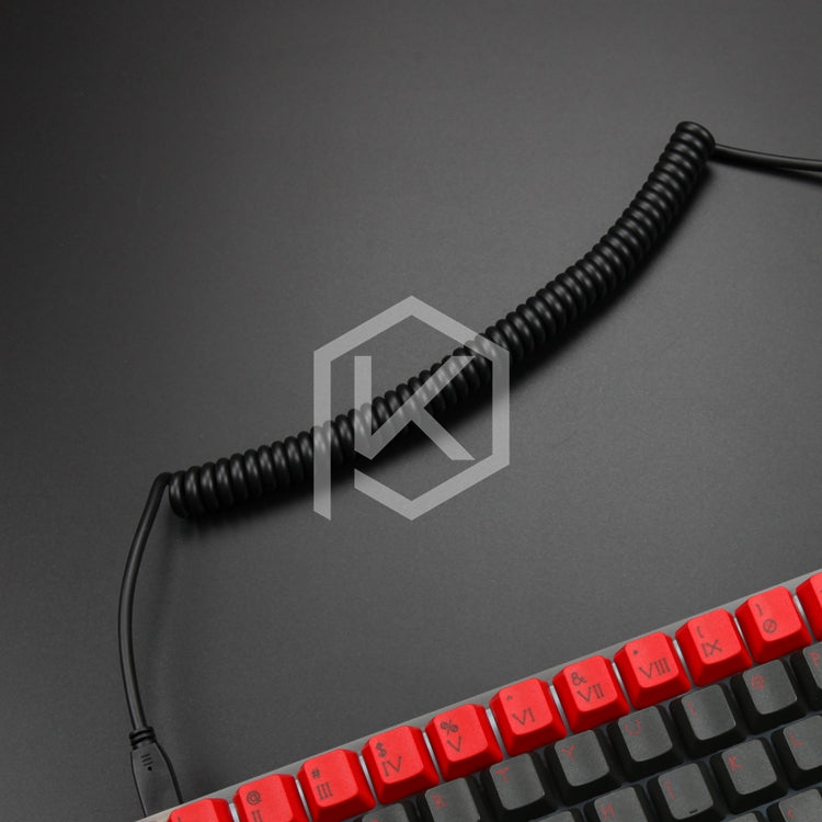 coiled Cable wire Mechanical Keyboard GH60 USB cable mini USB port ...