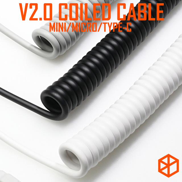 V2 Coiled Cable Wire Mechanical Keyboard Gh60 Usb Cable Mini Micro