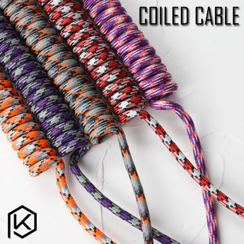 nylon coiled Cable wire Mechanical Keyboard GH60 USB cable mini USB port for poker 2 GH60 keyboard kit DIY - KPrepublic