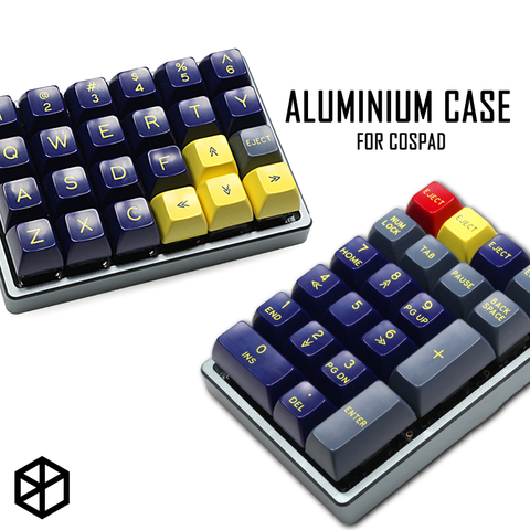 Anodized Aluminium case for cospad xd24 custom keyboard dual purpose case with CNC Aluminum Cone Feet