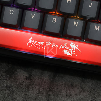 Novelty Shine Through Keycaps ABS Etched, Shine-Through dark souls 3 long may the sun shine black red c spacebar esc