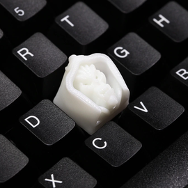 Novelty Shine Through Keycaps 3d printed print printing pla Death mage custom mechanical keyboards Cherry MX compatible