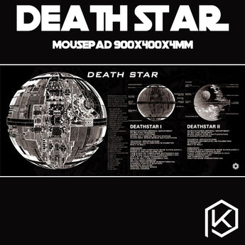 Mechanical keyboard Mousepad death star starwar 900 400 4 mm non Stitched Edges Soft/Rubber Highquality