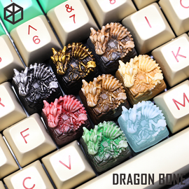 [GB] T-Pai Dragonbone Novelty resin hand-painted cherry mx mechanical keyboards keycap shine-through