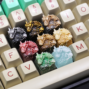 [Pre-Order] T-Pai Dragonbone Novelty resin hand-painted cherry mx mechanical keyboards keycap shine-through