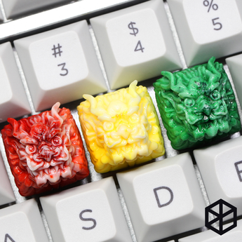 [CLOSED][GB] Dragon Novelty Resin Keycap dither agate wax jade mechanical keyboards