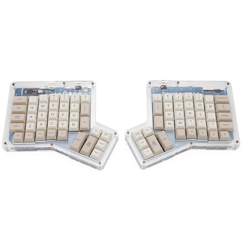 dsa pbt dye subbed keycaps Infinity ErgoDox Ergonomic Keyboard light beige grey