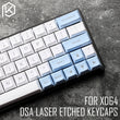 dsa pbt top Printed legends white light blue Keycaps Laser Etched gh60 poker2 xd64 60% rk61