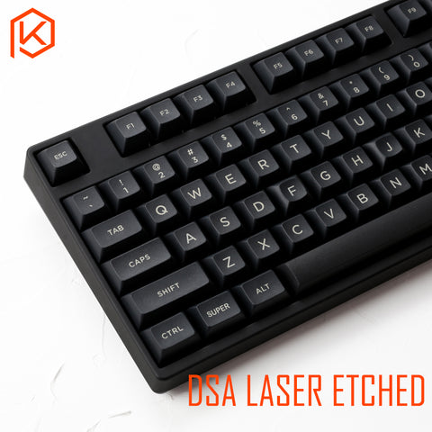 dsa pbt top Printed legends black Keycaps Laser Etched gh60 poker2 xd64 87 104 xd75 xd96 xd84 cosair k70 razer blackwidow - KPrepublic