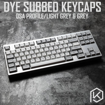 dsa granite grey colorway dsa profile Dye Sub Keycap Set PBT plastic for keyboard gh60 xd60 xd84 cospad tada68 rs96 87 104 660