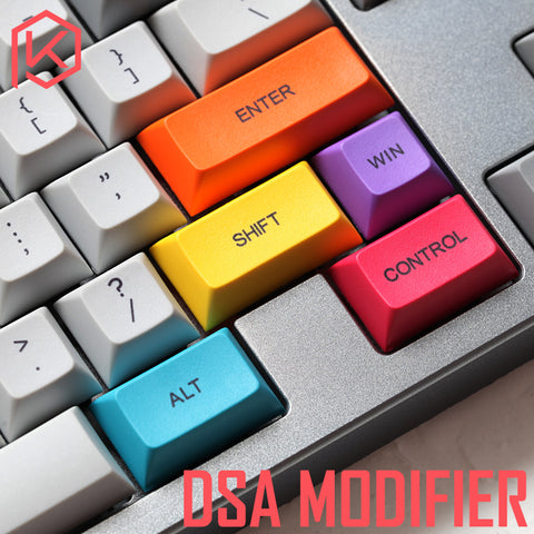 29-key dye subbed colorful keycaps modifier for diy gaming mechanical keyboard color of orange green magenta yellow blue dsa profile - KPrepublic