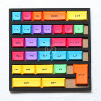 29-key dye subbed colorful keycaps modifier for diy gaming mechanical keyboard color of orange green magenta yellow blue dsa profile