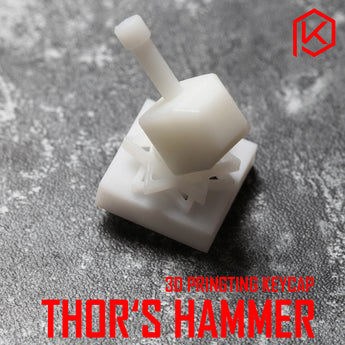 Novelty Shine Through Keycaps 3d printed print printing pla thor hammer custom mechanical keyboards light Cherry MX compatible