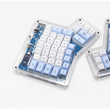 dsa ergodox ergo pbt dye subbed keycaps custom mechanical keyboards Infinity ErgoDox Ergonomic Keyboard keycaps light blue white