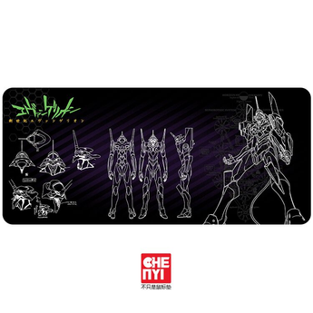 Mousepad Neon Genesis Evangelion Inspired 900 400 4mm non Stitched Edges /Rubber High quality
