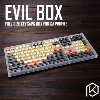 Evil box full size keycaps box sa profile cnc frosted acrylic with Magnetic cover