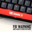 Novelty Shine Through Keycaps ABS Etched, Shine-Through fbi warning black red spacebar custom mechanical keyboards