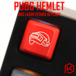 Novelty Shine Through Keycaps ABS Etched, Shine-Through pubg BATTLEGROUNDS level 3 helmet black red custom mechanical keyboards