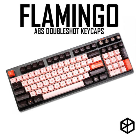 maxkey abs doubleshot keycap sa profile flamingo for mechanical keyboards gh60 poker 87 tkl 104 108 ansi iso