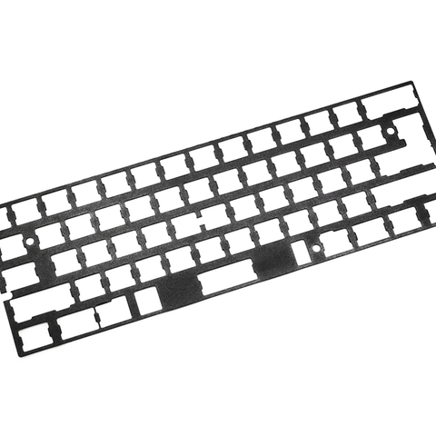 60% anodized aluminum Mechanical Keyboard Plate support 60% Gh60 xd60 xd64 poker 1 2 3 black color 1.5mm thickness