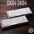 gk64 gk84 Mechanical keyboard 64 key 84 key dye sub keycaps wooden custom light rgb cherry profile keycap starry night dhl