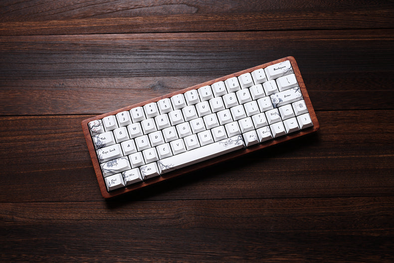 gk64 gk84 mechanical keyboard 64 key 84 key dye sub keycaps wooden