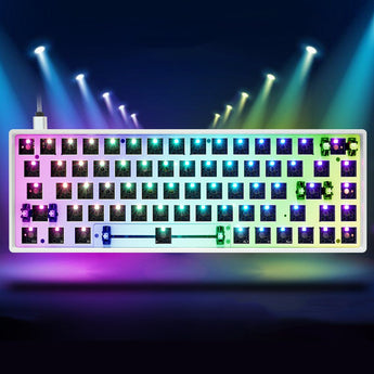 gk68xs hot swappable bluetooth dual mode Custom Mechanical Keyboard rgb type c