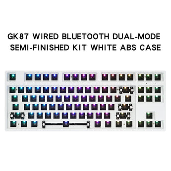 gk87s hot swappable 80% Dual Mode Bluetooth 5.0 Custom Mechanical Keyboard Kit rgb switch leds type c software programmable