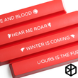 Novelty Shine Through spacebar Keycaps ABS Etched black red got Game of Thrones houses mottos
